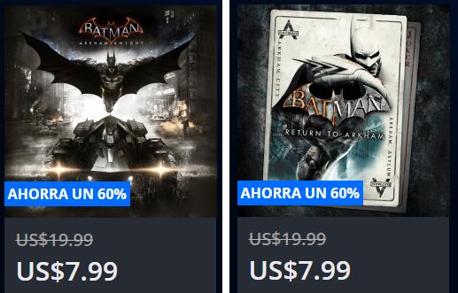 Playstation Store: Batman Arkham Knight y Batman Return to Arkham a $8usd c/u
