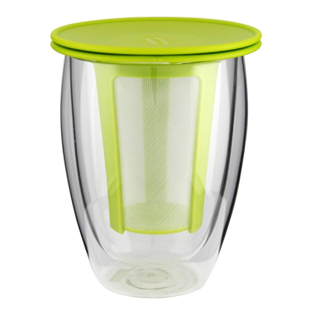 WALMART : Vaso Doble Pared Bodum Infusor Removible Verde a $100 con envió gratis
