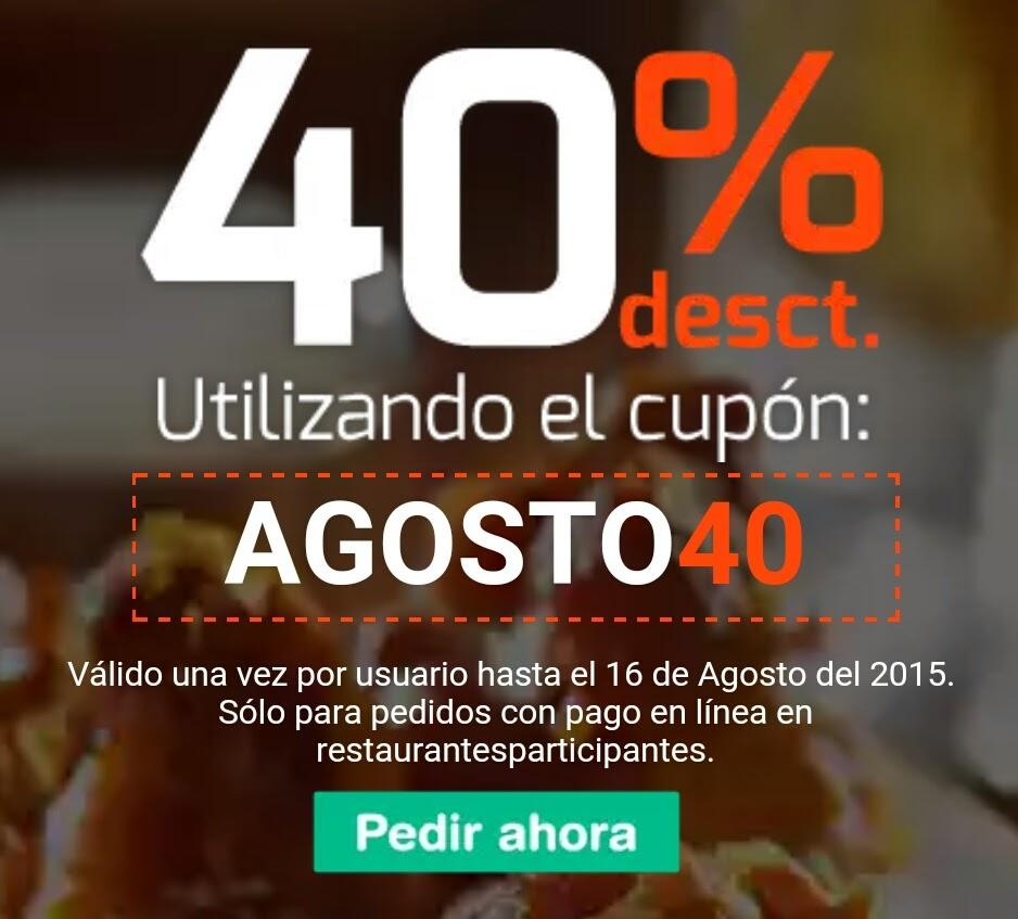 HELLOFOOD: 40% de descuento en comida
