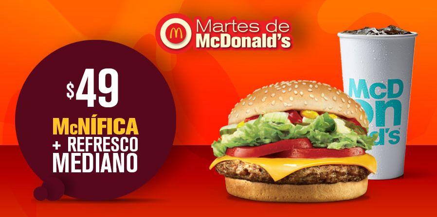 Mcdonalds: McNífica + refresco mediano