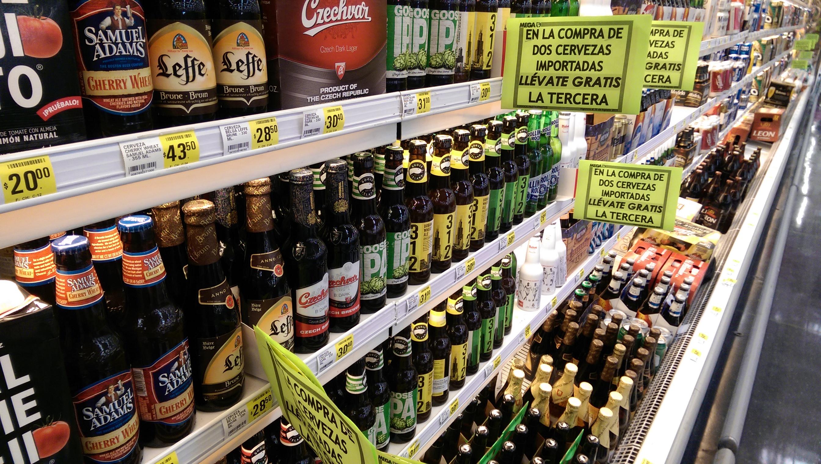 La Comer: Cervezas importadas al 3x2