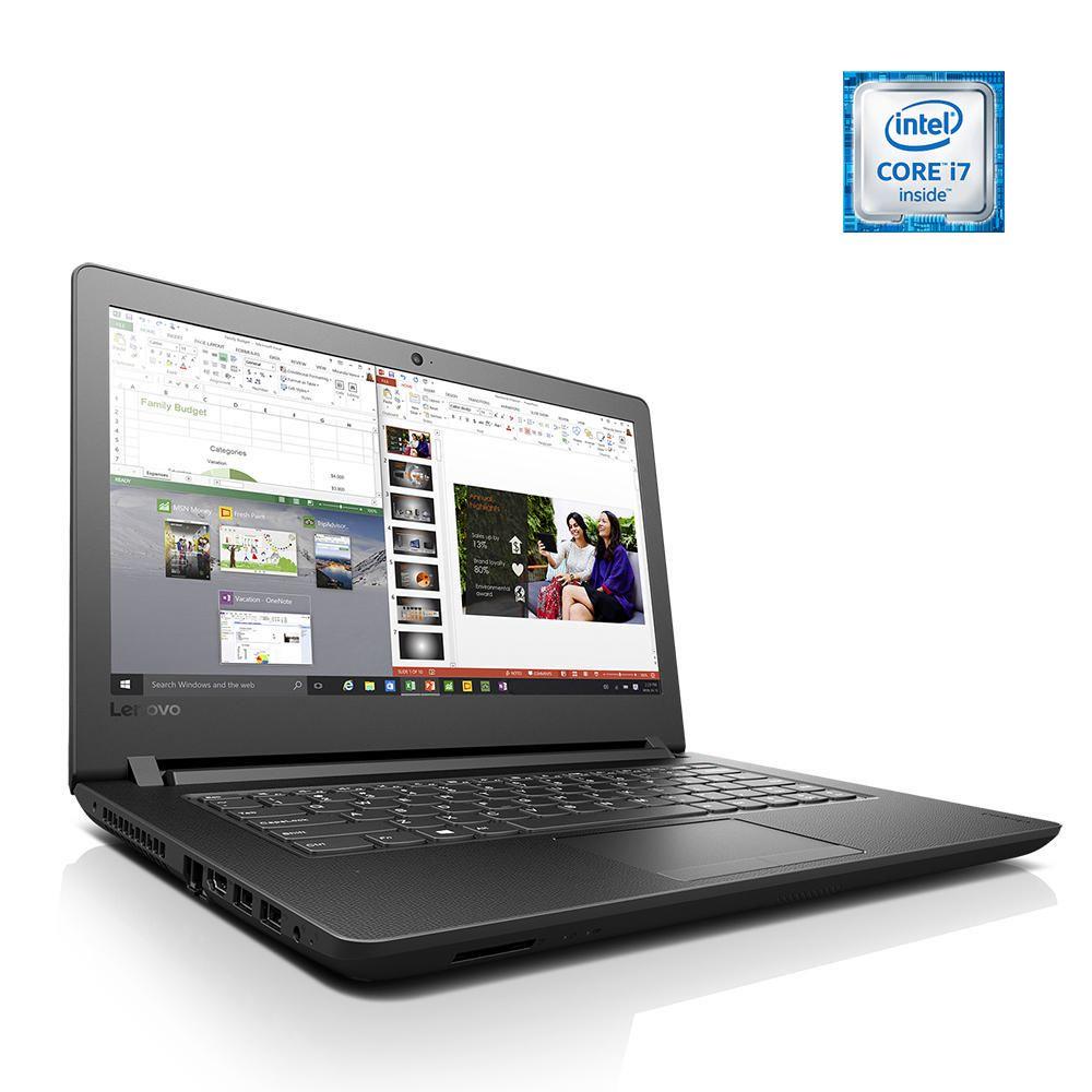 "Elektra Laptop Lenovo Ideapad 110-14ISK Intel  i7 RAM 4GB DD 1TB W10H LED 14""- Negro"