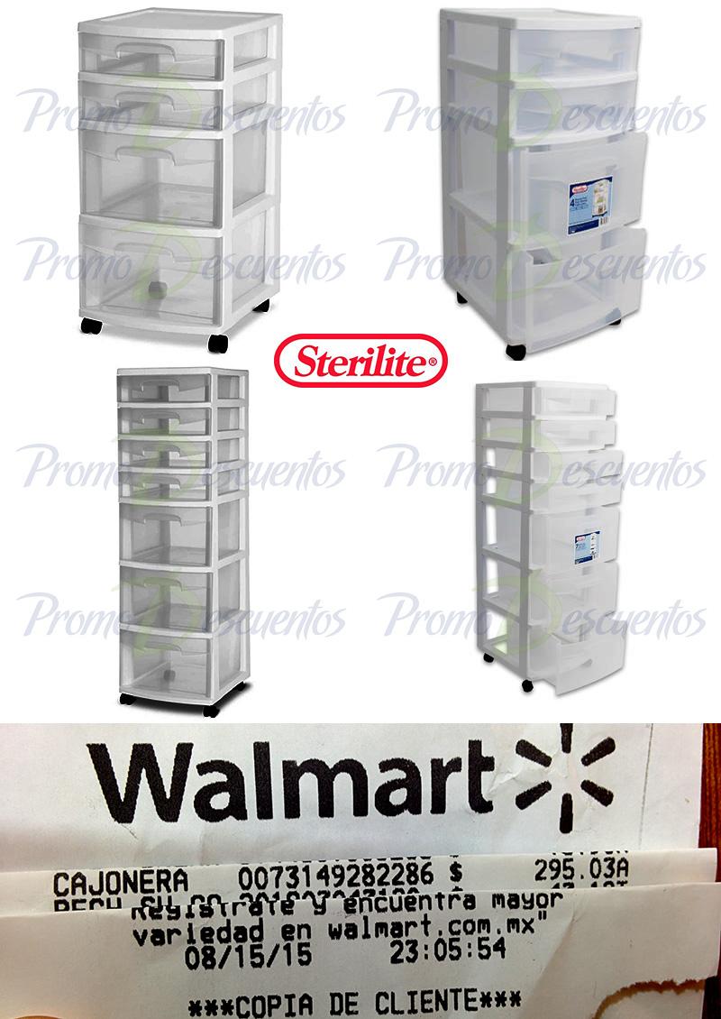 Walmart: (tiendas) Cajoneras Sterilite de 7, 4 y 3 cajones. (7c)antes $590 ahora $490.03 y (4c)$360 ahora $295.03 y (3c)ahora $299.03