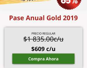 Six Flags Gold Anual 2019  $609