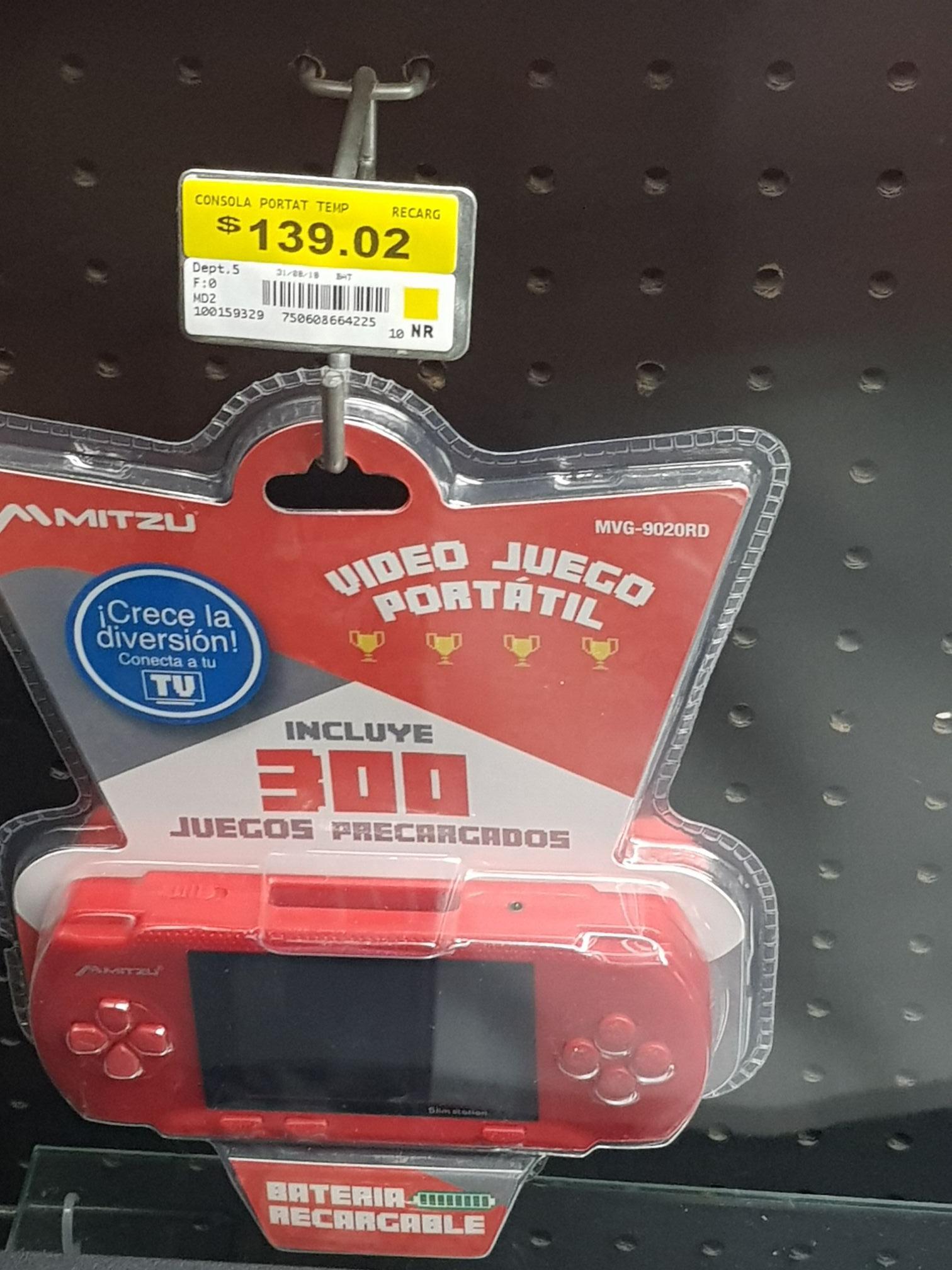 Bodega Aurrerá:  $99.01, Mitzu, consola de videojuegos portátil 300 juegos