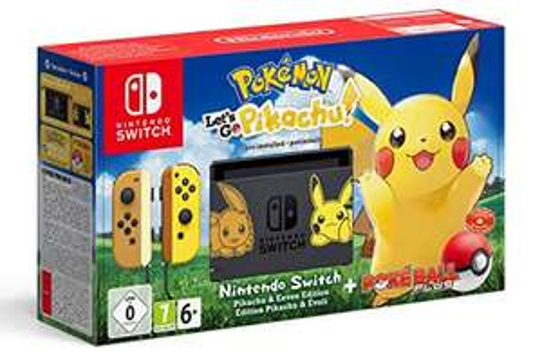 Amazon.es :Nintendo Switch: Pokémon Let's Go Pikachu Bundle