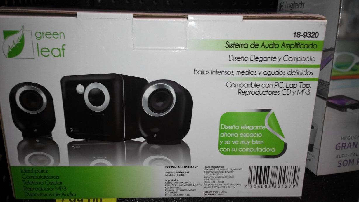 Walmart: bocinas Green Leaf sonido 2.1 $349.02