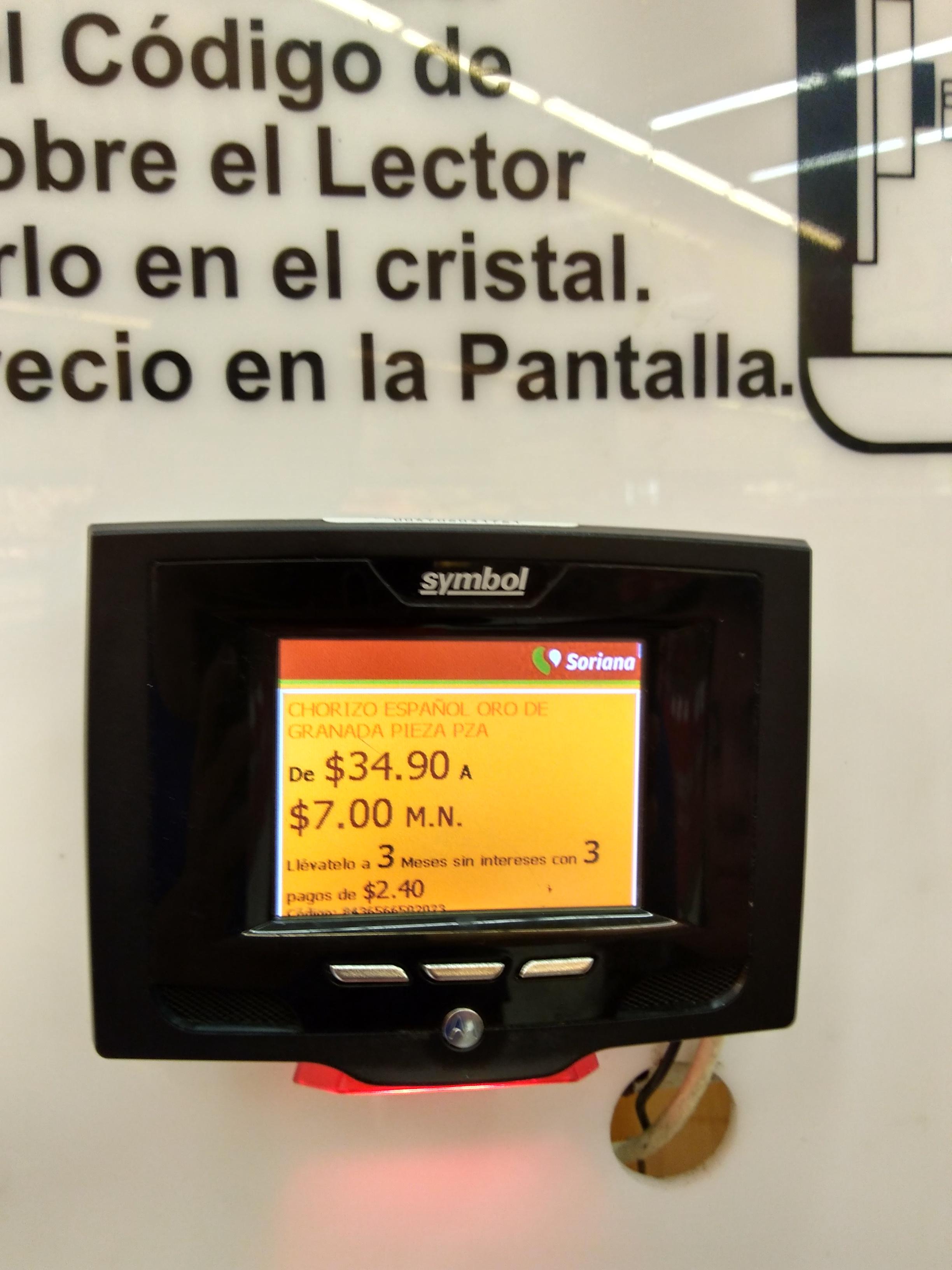 Soriana: Chorizo español Oro de Granada