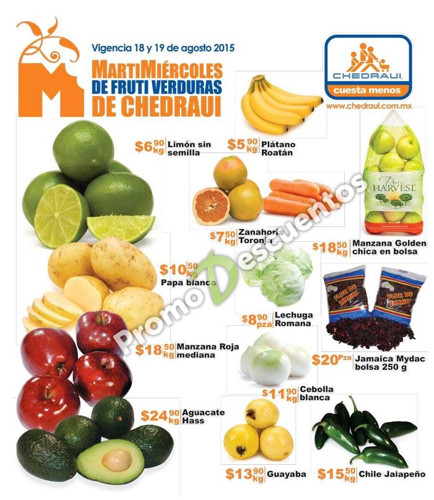 Martimiércoles en Chedraui 18 y 19 de agosto: ofertas en frutas, verduras, carnes y más