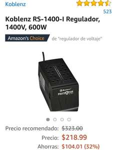 Amazon: Regulador  Koblenz RS-1400-I, 1400V, 600W