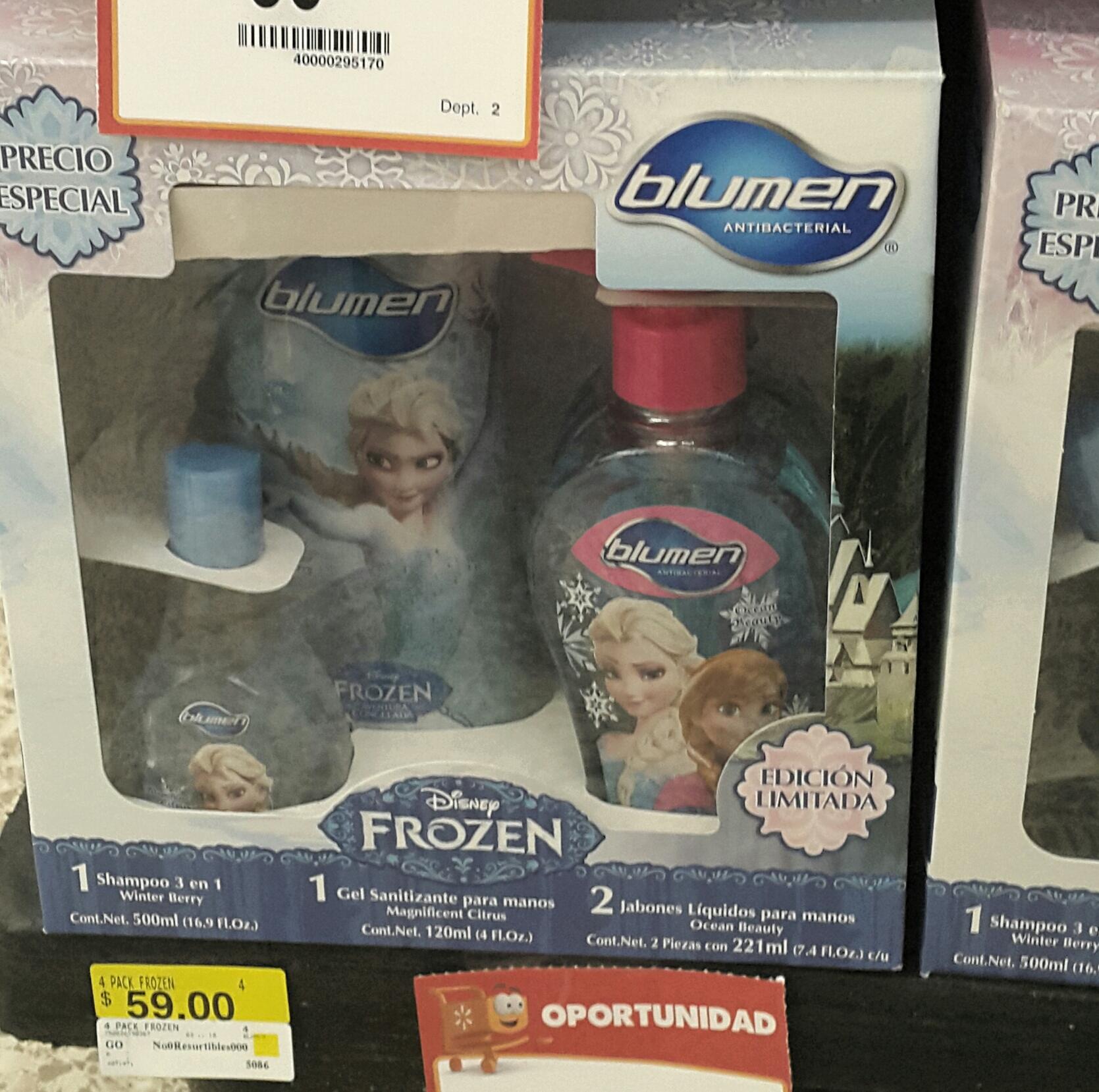 Walmart: pack de shampoo Frozen a $59