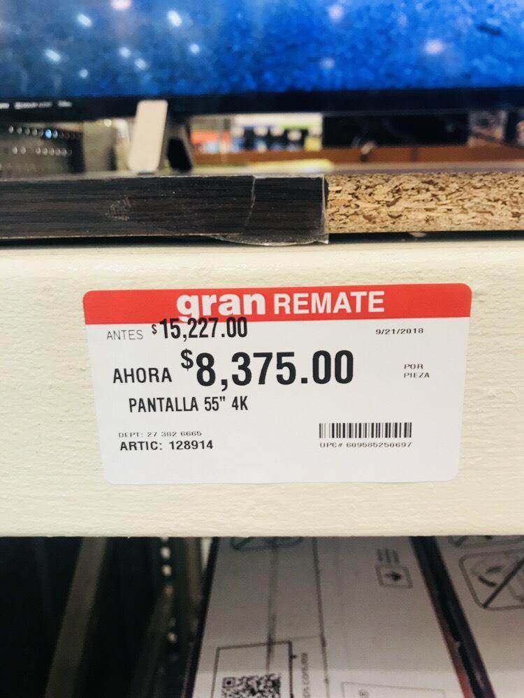 "Home Depot: Pantalla 55"" 4K Chromecast"