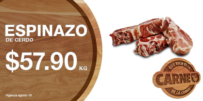 Martes de carnes en La Comer agosto 18: Espinazo de cerdo a $57.90 el kilo y más