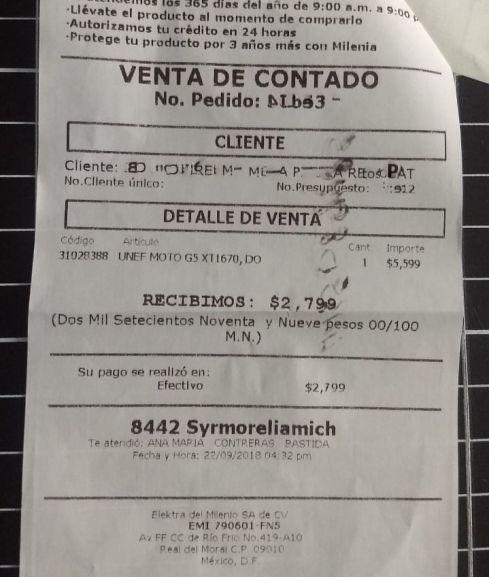 Salinas y Rocha Morelia centro: Moto G5 XT1670 dorado Unefon-AT&T (ahora libre)