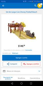 Walmart: Set de Juego Cars Disney Fireball Beach