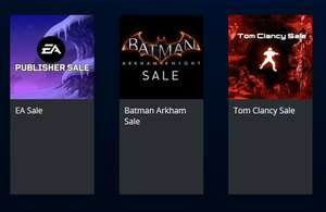 PS Store: Batman Arkaham Sale​, EA Sale, Tom Clancy Sale