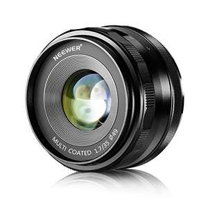 Amazon: Lente Neewer 35mm - 1.7 para Camaras Sony con Montura E