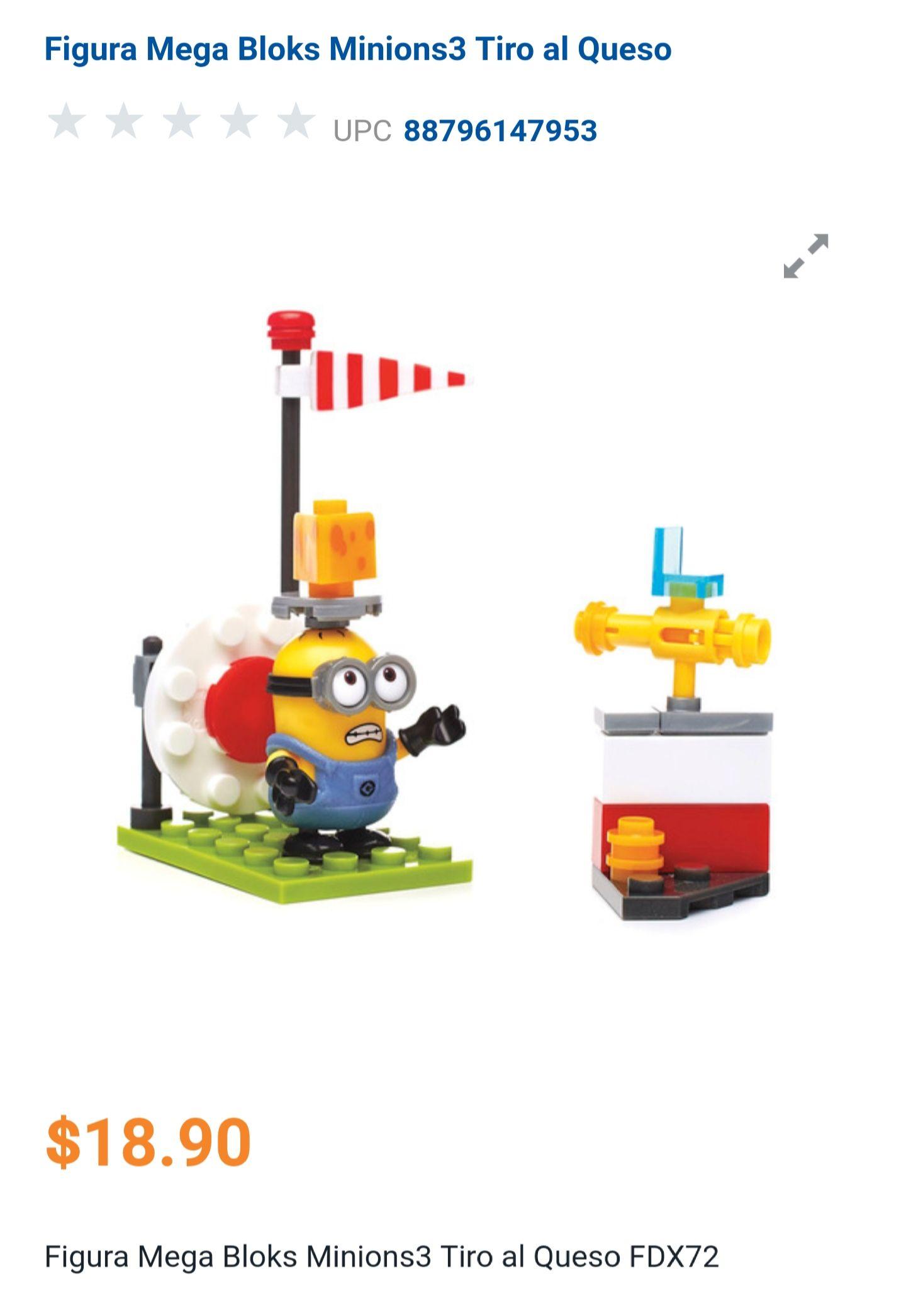 Chedraui: Figura Mega Bloks Minions3 Tiro al Queso