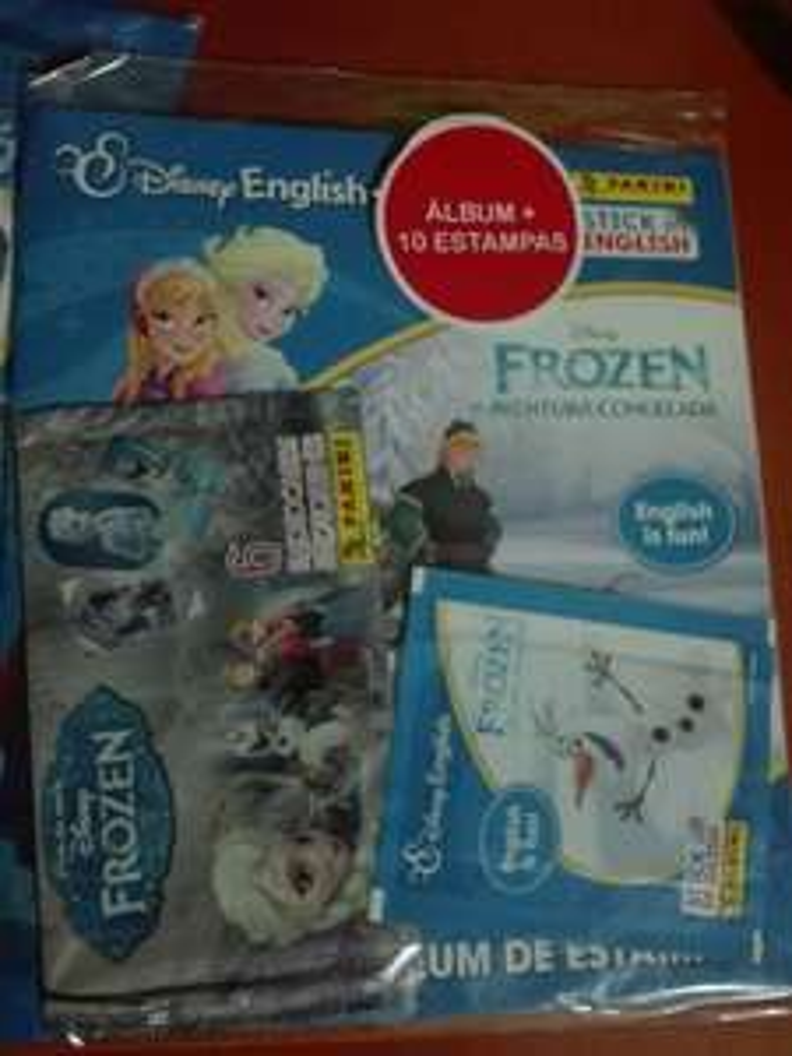 Bodega Aurrerá: Álbum Panini de Frozen + 10 estampas + 6 photocards en liquidación