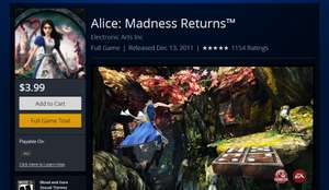 PSN: Alice Madness Returns o Army of TWO Devil's Cartel para PS3 4 dólares