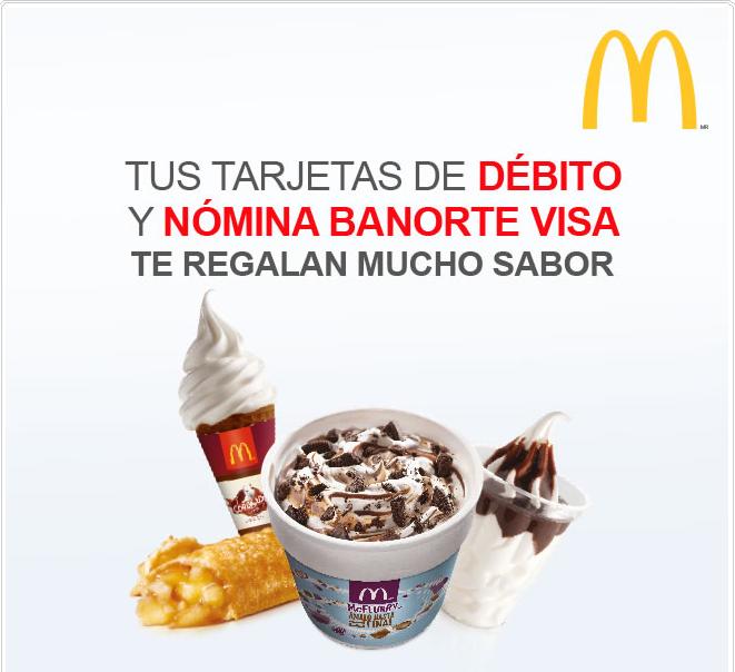 McDonald's: Postre Gratis comprando McTrío con Visa