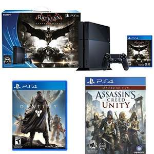Amazon USA: PS4 +  Batman: Arkham Knight + Destiny + Assasin's Creed Unity por $400USD