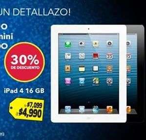 Best Buy: iPad 4 16GB $4,990, 32GB $5,990, iPad Mini 32GB $4,990 y más