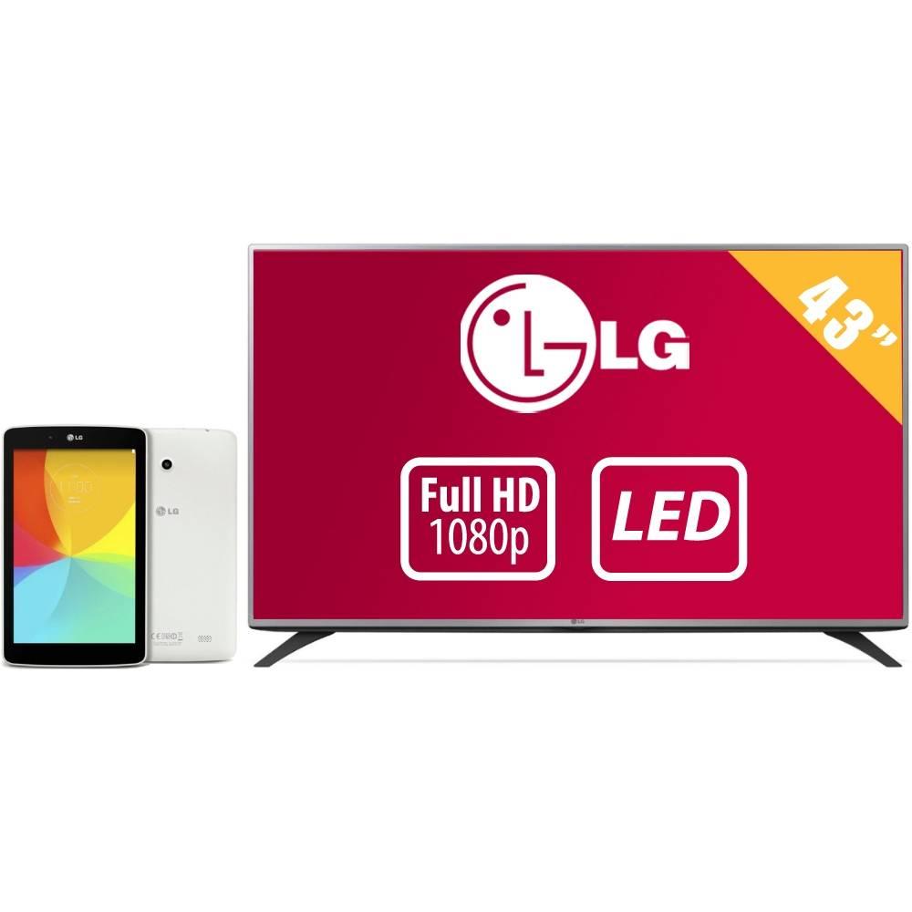 """Walmart: Combo LG: pantalla LED 43"""" 43LF5400 y G pad 7.0 $7,999"""