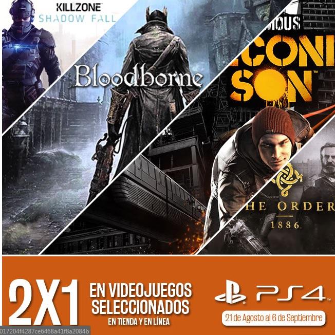 Gamerush: 2x1 en videojuegos seleccionados (PS4)