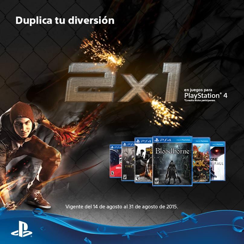 PlayStation: 2x1 en juegos seleccionados para PS4