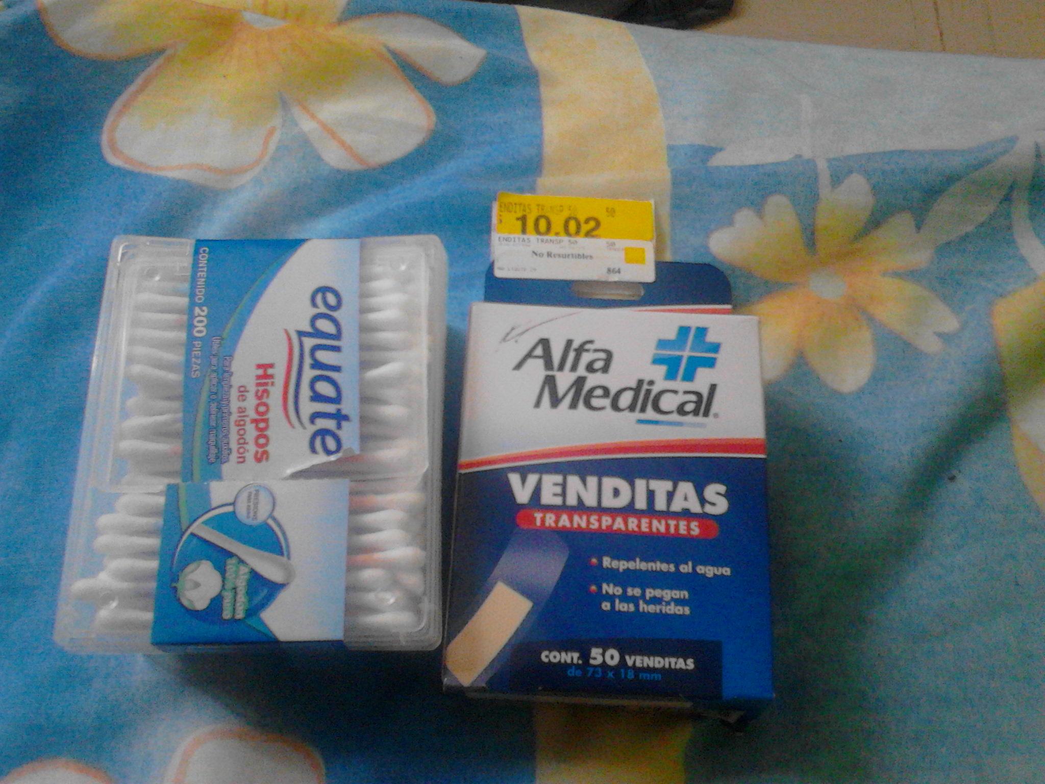 Walmart: 200 cotonetes ó 50 venditas $10.02
