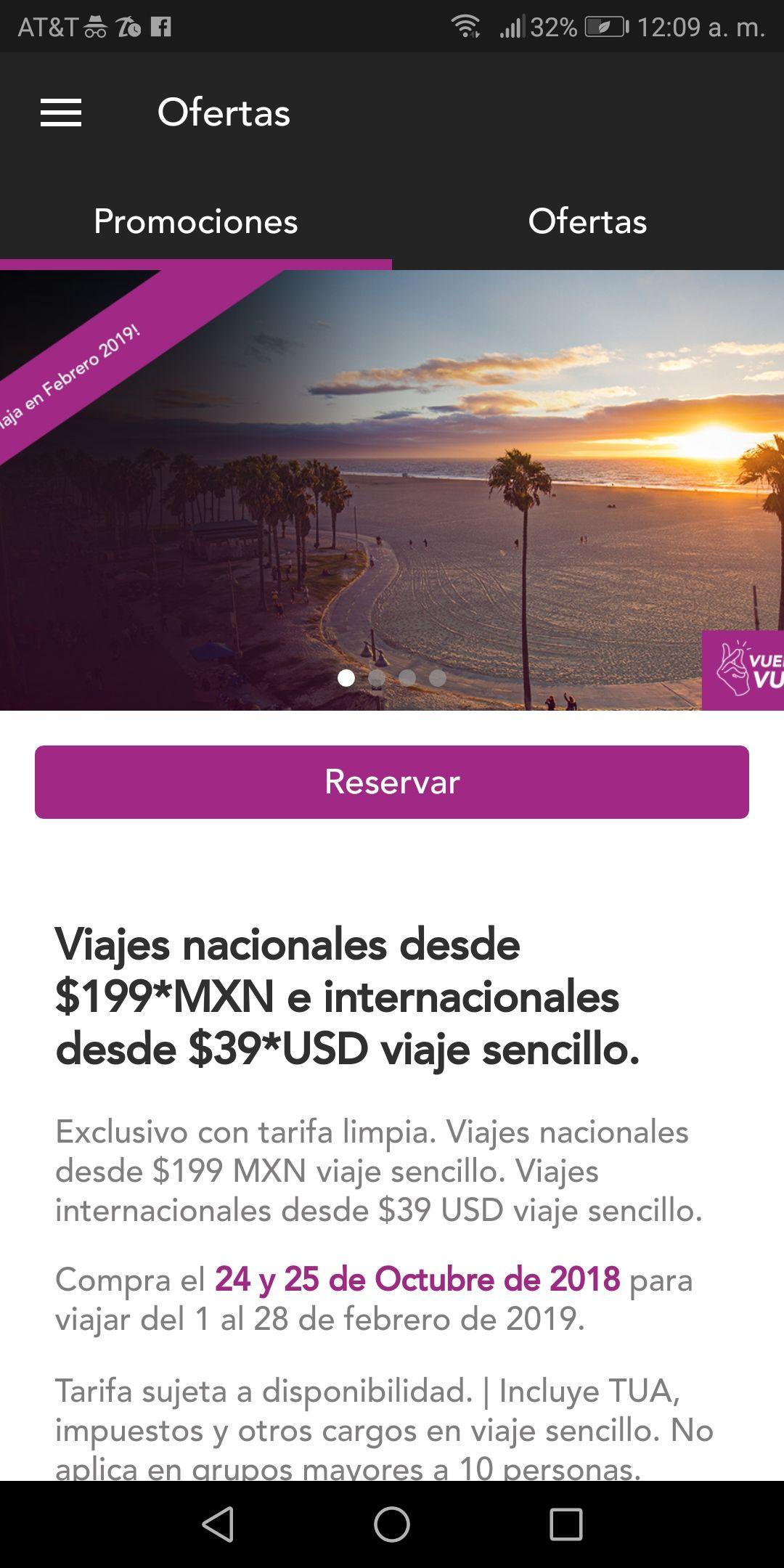 ¡DE NUEVO! Volaris: Vuelos nacionales desde $199 pesos e internacionales desde $39 usd
