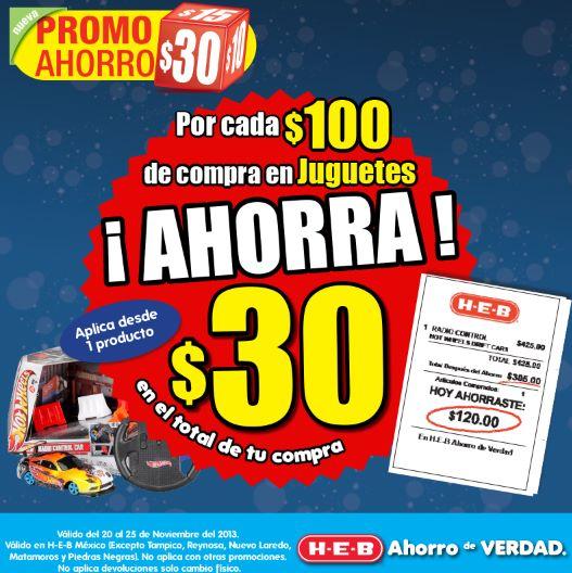HEB: $30 de descuento por cada $100 en juguetes, vino, chamarras y más