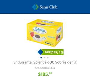 Sam's Club: Splenda 600 sobres