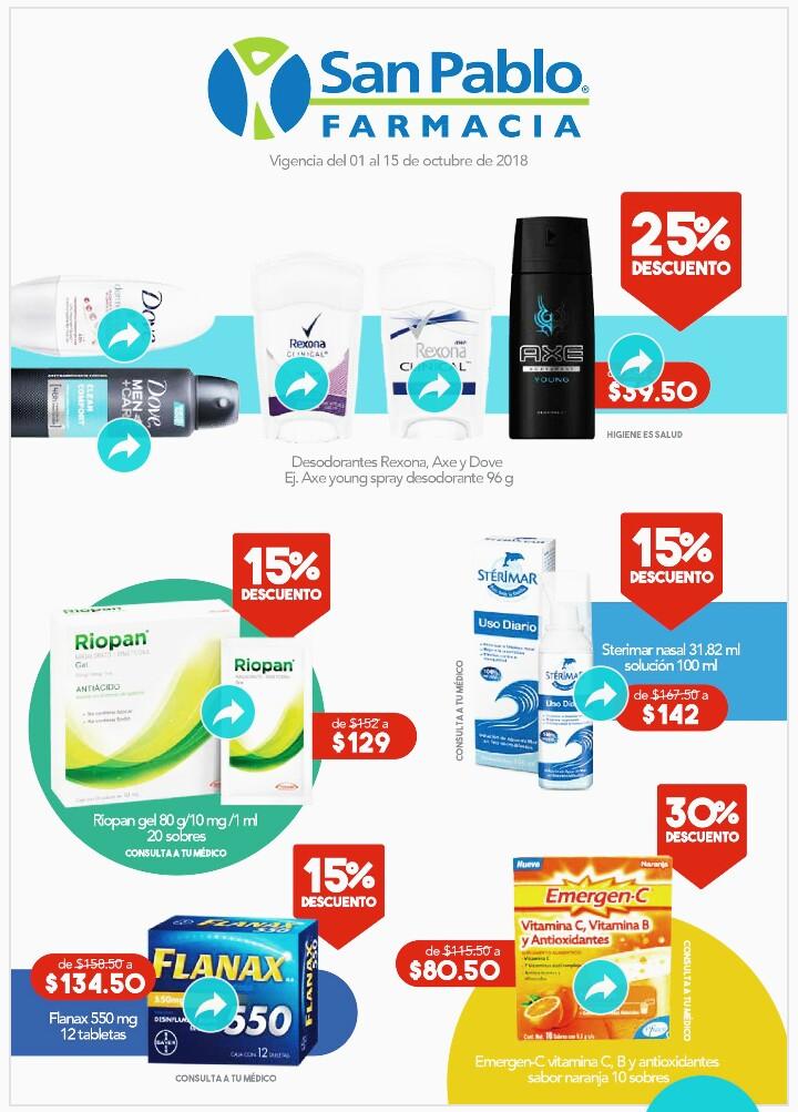 Farmacia San Pablo: folleto quincenal