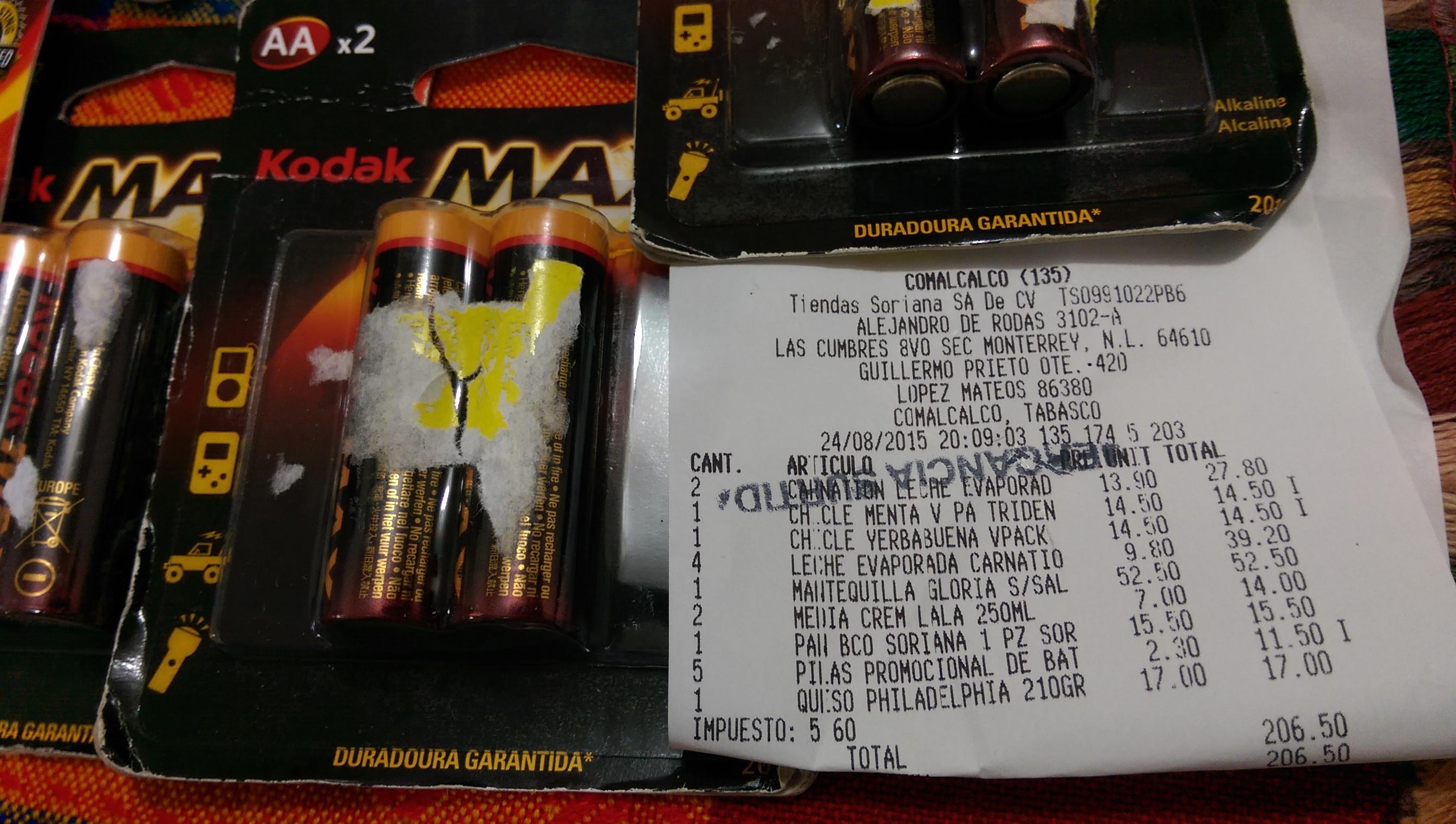 Soriana Mercado: 2 Baterías AA por $2.30
