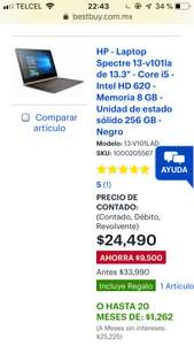 "Best Buy: Dell - Laptop Inspiron 15 5570 de 15.6"" - Core i5 - UHD 620 - Memoria de 8GB - Disco duro de 2TB - Plata"