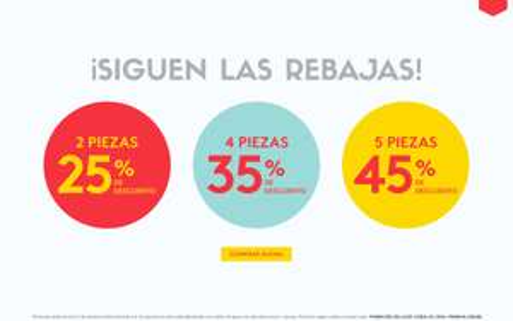 Promoda Outlet: Descuentos escalonados del 25% al 45% adicional a lo ya rebajado en selección de productos en tienda en línea