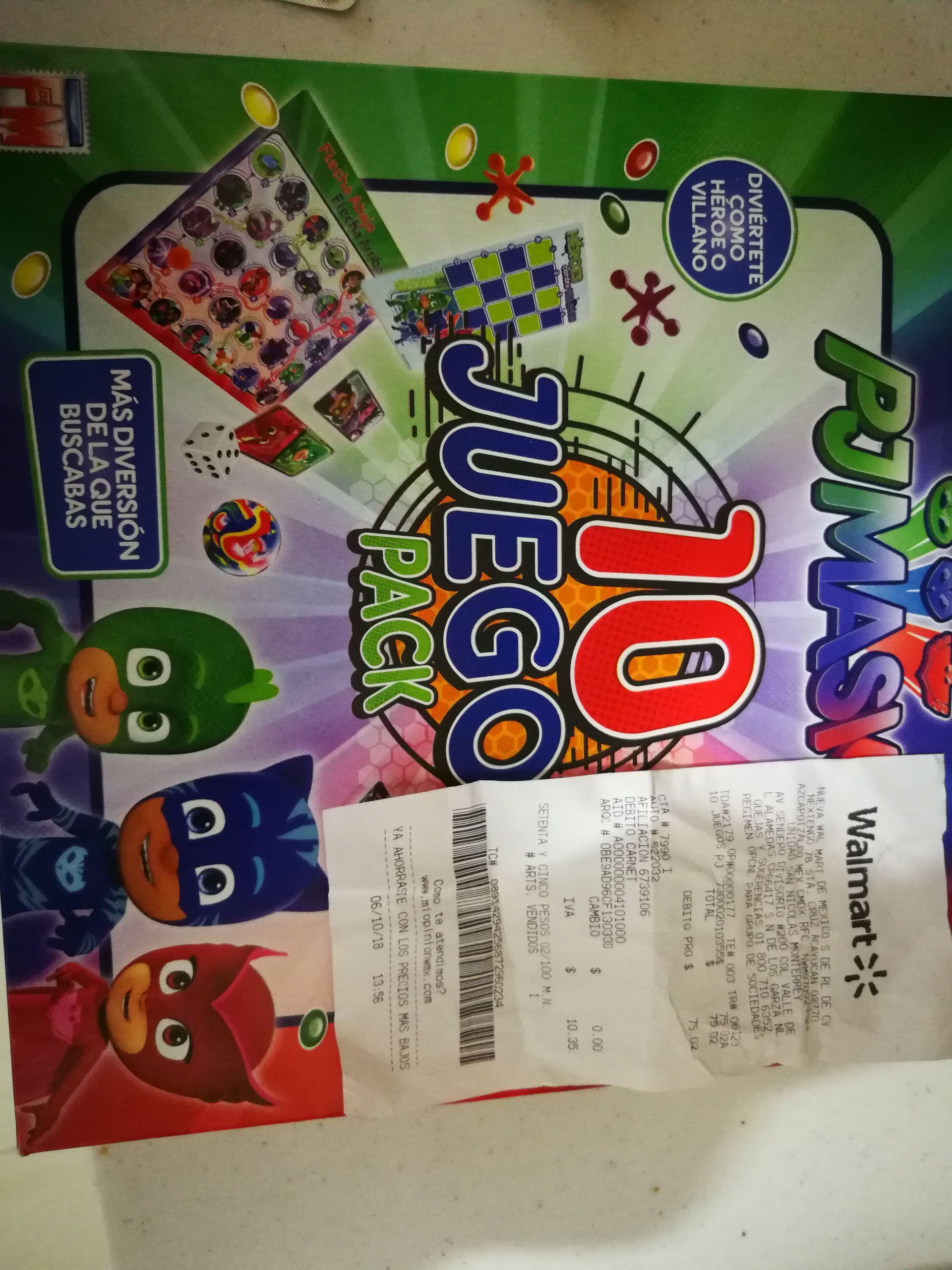 Walmart Sendero Pack 10 Juegos De Mesa Pjmask Promodescuentos Com