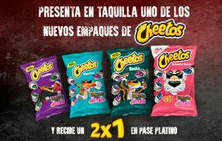 La feria de Chapultepec: 2x1 en pase platino presentando una empaque de Cheetos