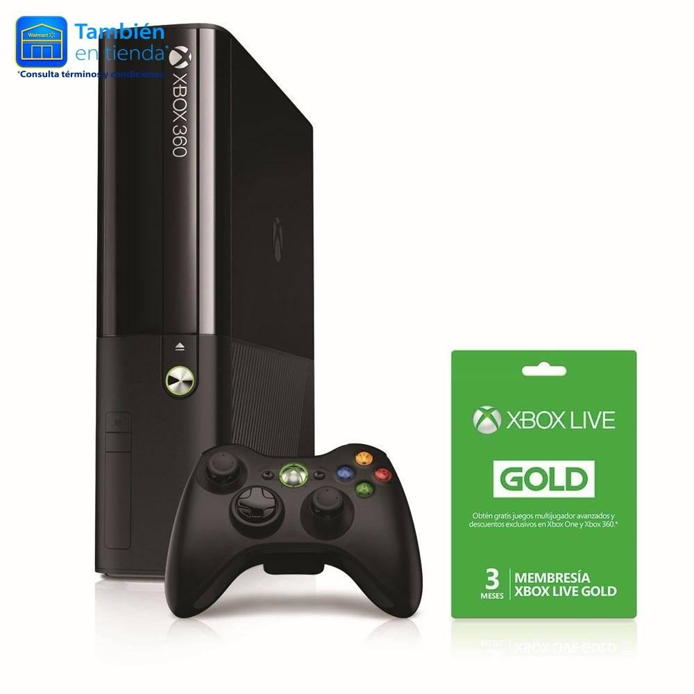 Walmart en linea Consola Xbox 360 500 GB Refurbished con Membresía Xbox Live Gold
