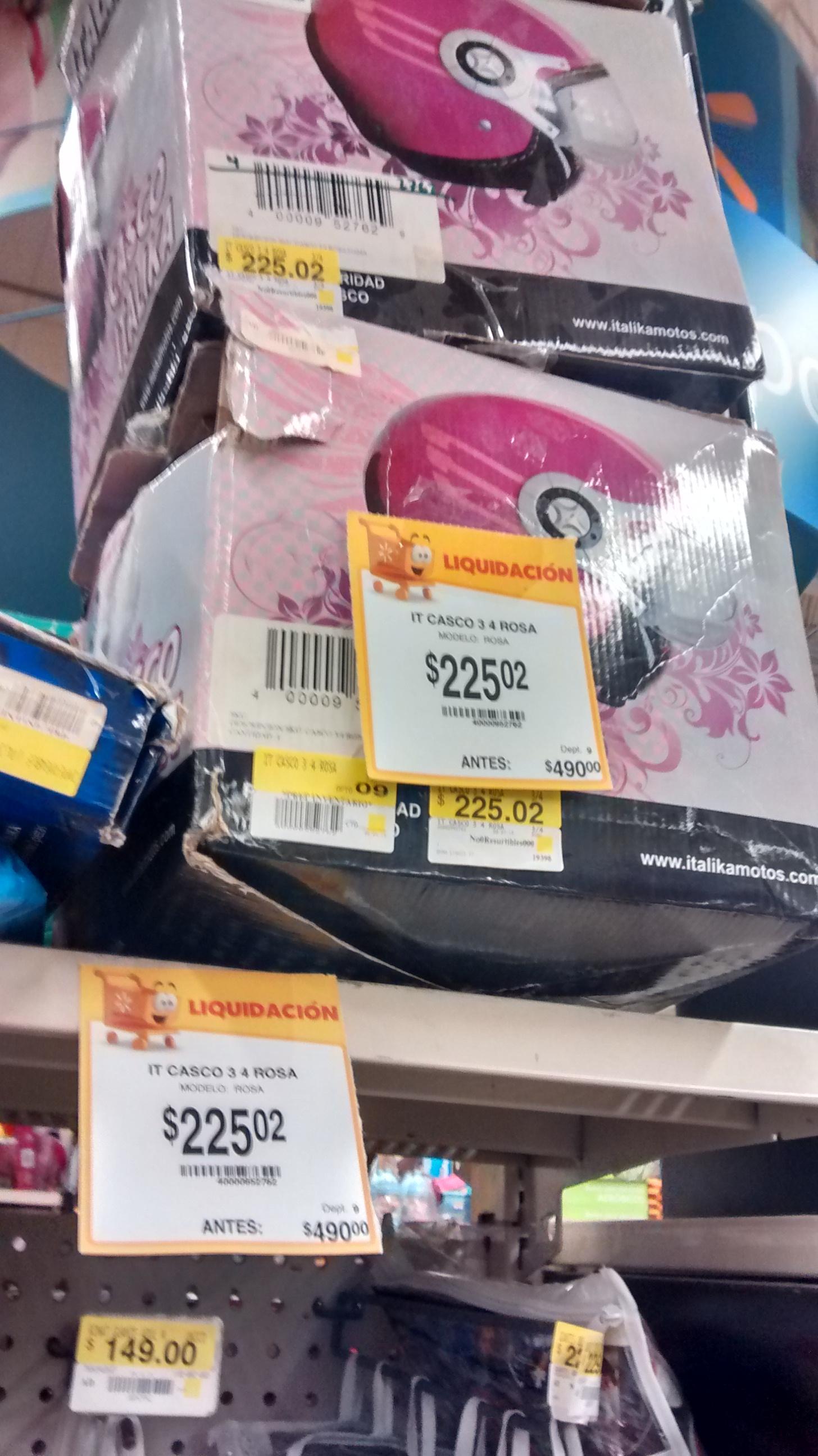 Walmart Casco Italika dama para moto de $490 a $225