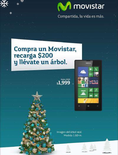 Movistar: árbol de Navidad gratis haciendo recarga de $200