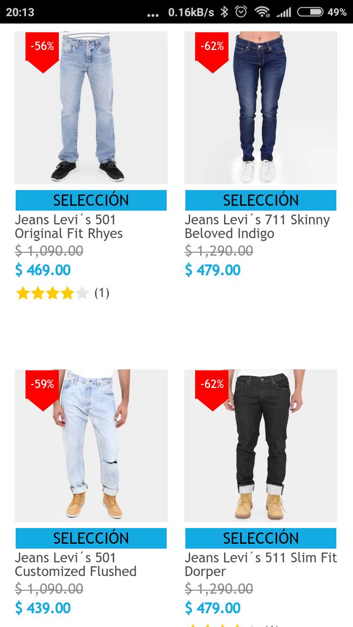 Netshoes: Pantalones Levi's con descuento