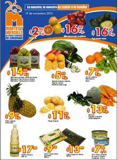 Ofertas frutas y verduras Chedraui 19 y 20 de noviembre: manzana $14.50 el kilo y +