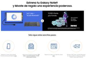 Compra Galaxy Note 9 y recibe Gratis PC Kit (DeX Cable y un teclado Bluetooth plegable) o Gaming Kit incluyendo promos del Buen Fin 2018