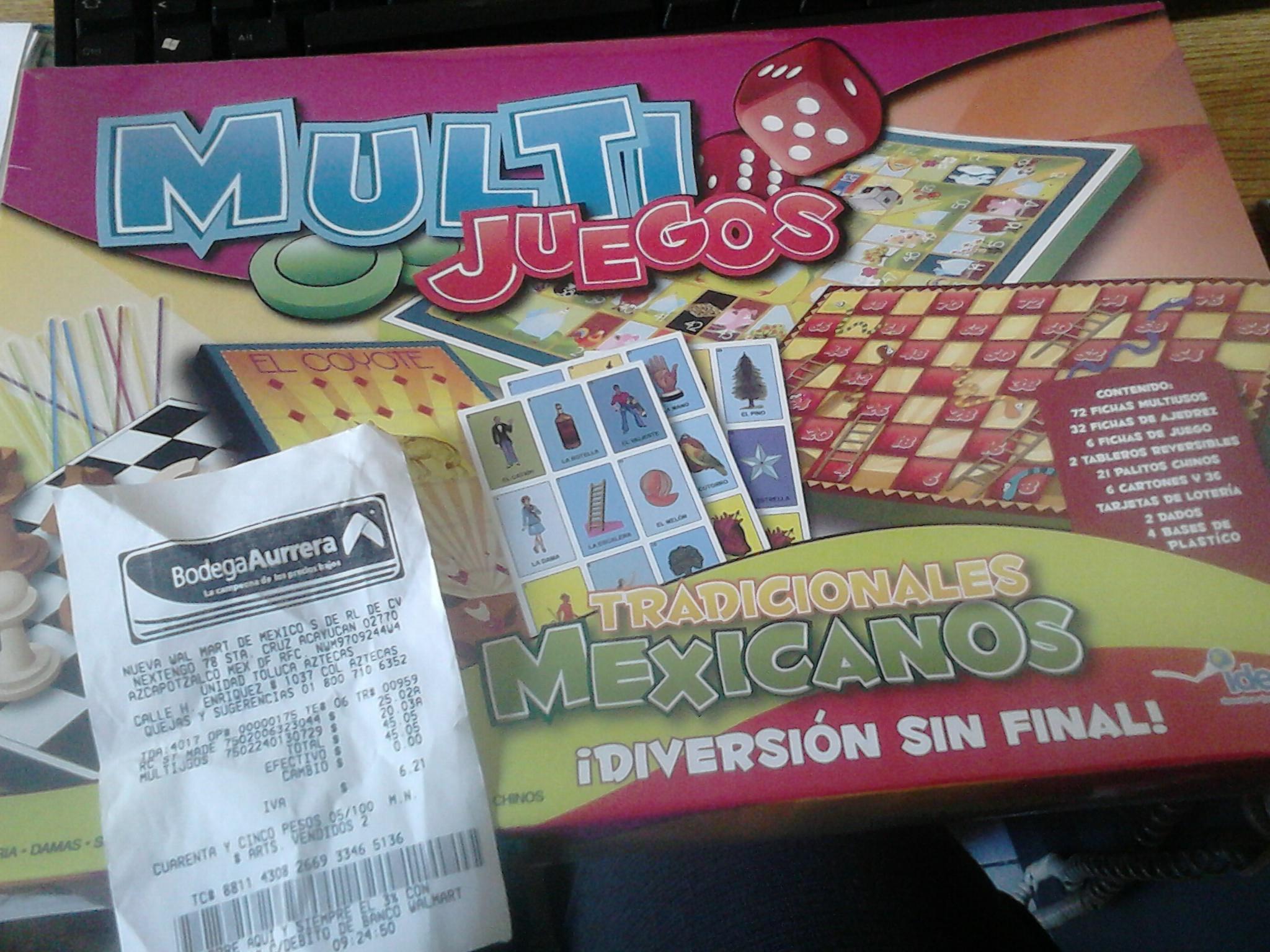 Bodega Aurrerá: Multijuegos Tradicionales Mexicanos $20.03