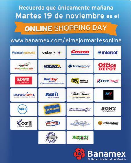Martes online shopping day con Banamex: promociones especiales comprando por internet