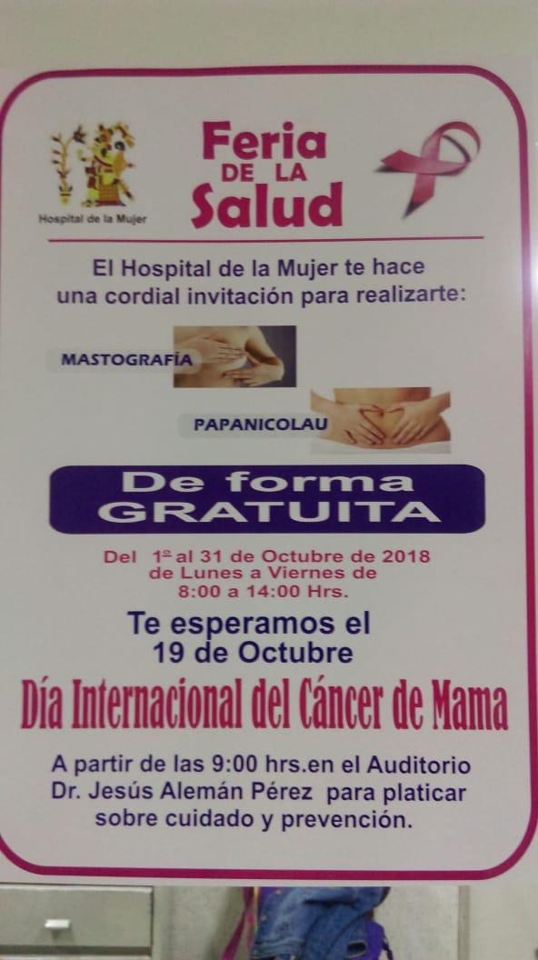 Hospital de la Mujer CDMX: MASTOGRAFÍA & PAPANICOLAU GRATIS