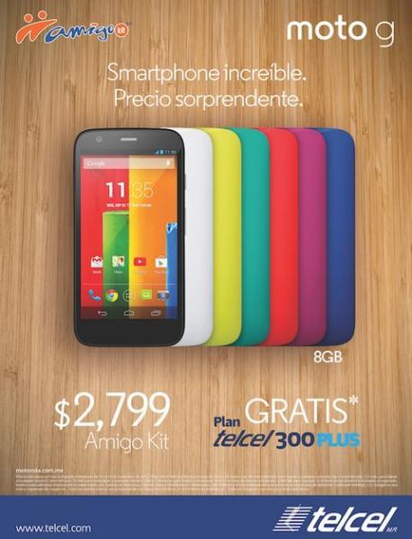 Ofertas del Buen Fin 2013 en Telcel: lanzamiento de smartphone Moto G
